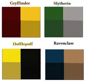 Harry Potter Hogwarts House Colors