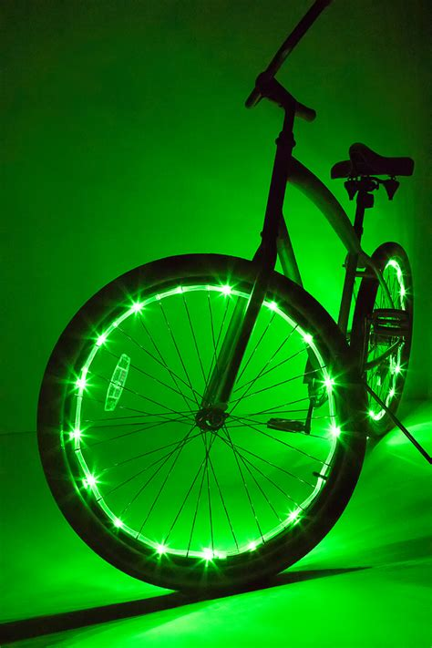 Wheel Lights by Wheel Brightz Green Bicycle Light Brightz Ltd