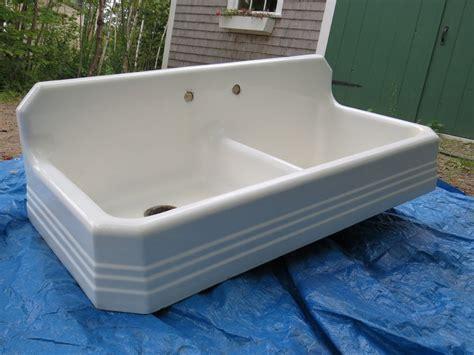 farm sink with drainboard antique richmond 1939 cast iron farm farmhouse kitchen