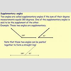 Miss Kahrimanis's Blog Complementary And Supplementary Angles