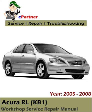 automotive air conditioning repair 2008 acura rl auto manual acura rl kb1 service repair manual 2005 2008 automotive service repair manual