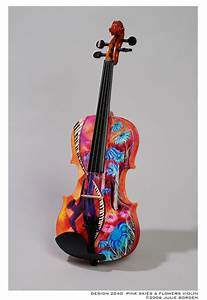31 Custom painted violins, guitars and cellos