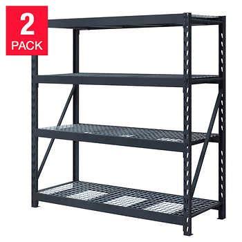 costco heavy duty shelving storage shelves costco 14104