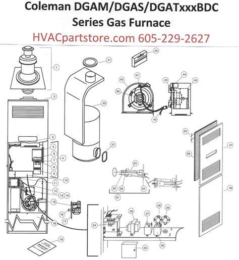 dgatbdd coleman gas furnace parts hvacpartstore