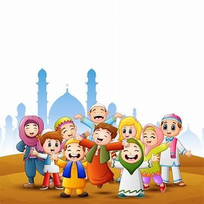 Eid Happy Vector Mubarak Background Mosque Islamic