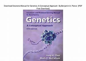 Genetics Candation Edition Solution Manual Pdf