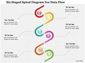 1214 Six Staged Spiral Diagram For Data Flow Powerpoint