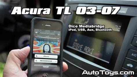 acura tl ipod usb bluetooth aux android  dice