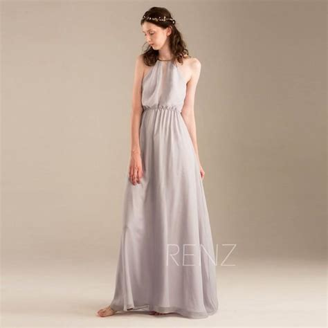 light gray bridesmaid dress 2015 light grey halter bridesmaid dress gray wedding