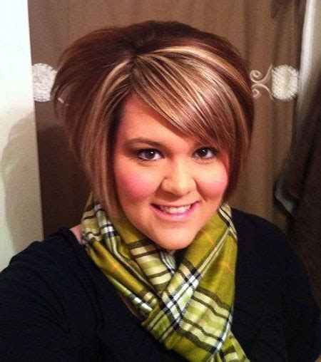 short hairstyles  chubby faces