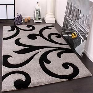 designer teppiche und hochflor teppiche With balkon teppich mit barock tapete schwarz