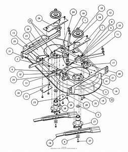 Snapper Hzs15420kve 42 U0026quot  15 Hp Ztr Yard Cruiser Series 0 Parts Diagram For 42 U0026quot  Mower Deck Sub