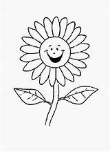 Daisy Coloring Flower Cartoon Pages Flowers Sunflower Laughing Drawing Getdrawings Colornimbus sketch template