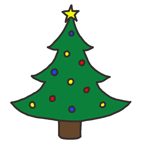 large christmas tree clipart 61