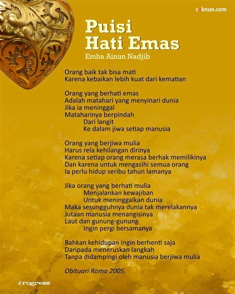 puisi hati emas caknuncom