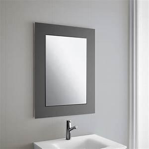 miroir salle de bain 60x80 cm horizontal ou vertical creta With miroir vertical salle de bain