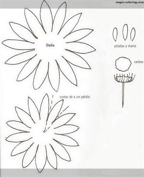 magic coloring dahlia flower template