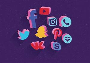 Social Media Icons Set 3D Vector - Download Free Vectors ...  Social