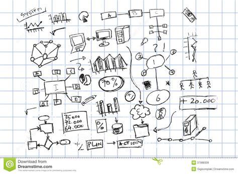 hand draw sketch finance  accounting symbol royalty