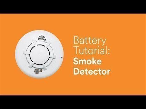 battery tutorial smoke detector youtube