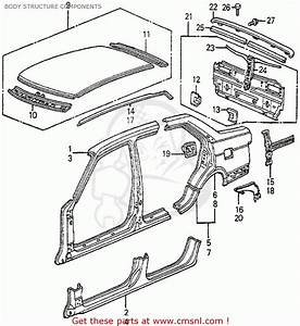 2006 Honda Civic Body Parts Diagram