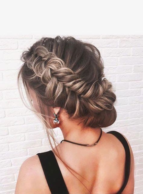 fishtail braided updo prom hairstyle prom formal