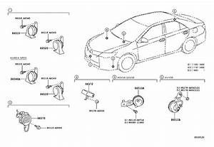 2014 Toyota Camry Speaker Assembly  Vehicle Approaching