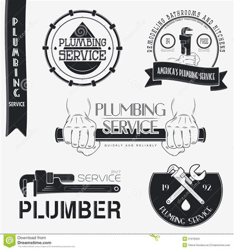 plumbing repair service plumbing service home repairs repair and stock vector