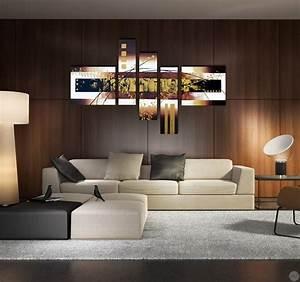 Tableau Metal Design : tableau moderne et design abstract gold ~ Teatrodelosmanantiales.com Idées de Décoration