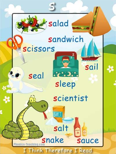 S Words Phonics Poster  Free & Printable  Ideal For Phonics Practice