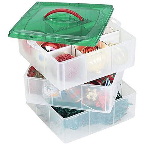 snapware paksh christmas plastic ornament storage