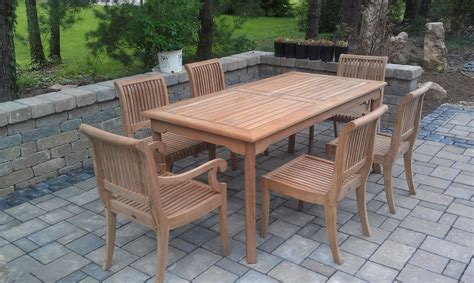 Ebay Patio Furniture Canada by 7 Pc Teak Dining Set Garden Outdoor Patio Furniture Giva