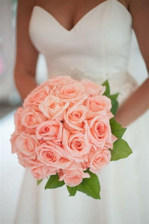 17 Best Ideas About Coral Wedding Bouquets On Pinterest