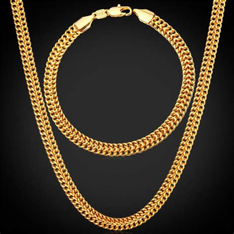 2018 Men'S 18k Stamp Gold Chain For Men Jewelry Fancy