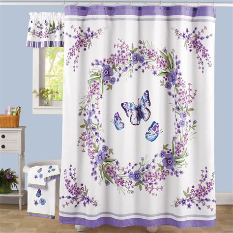 lavender shower curtain lavender floral and butterflies shower curtain purple and