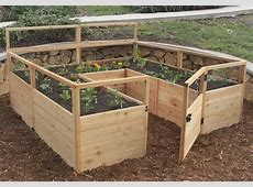 OLT Raised Cedar Garden Bed 8'x8' or 8'x12' With Deer