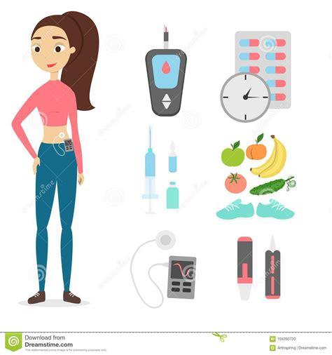 diabetes cartoons illustrations vector stock images