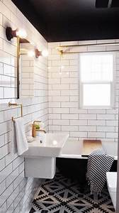 25 classic black and white bathroom tile ideas and pictures for Black and white bathrooms images