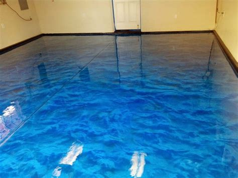 garage floor paint blue ocean blue metallic epoxy floor installed with spartaflex polyaspartic top coat yelp