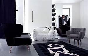 canape gris noir blanc les modeles les plus tendance With tapis de course avec canapé lit ligne roset