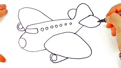 como dibujar  avion  ninos dibujo de avion paso  paso youtube