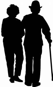 Elderly Couple Silhouette | Free vector silhouettes