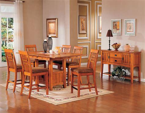 oak park counter height table oak levin furniture