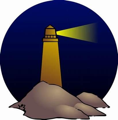 Lighthouse Clip Clipart Cartoon Mercusuar Christian Cliparts