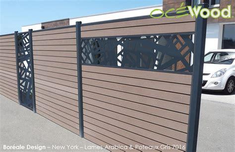 bois composite cloture cloture bois composite avec lames deco aluminium bor 233 ale