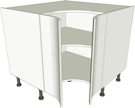 Corner Kitchen Base Unit Concave  Lark & Larks