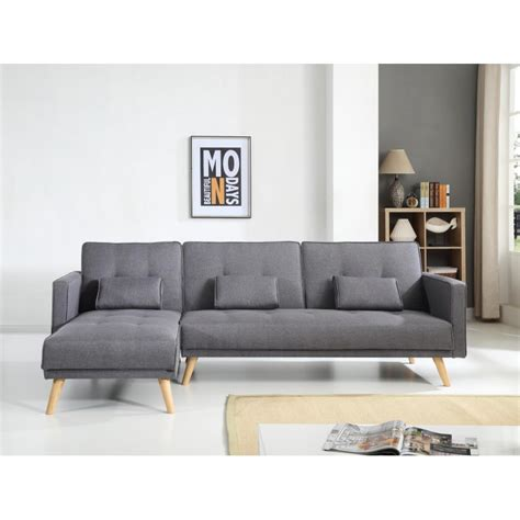 canape convertible reversible d angle scandinave gris foncé canape d angle convertible reversible