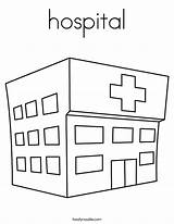 Hospital Coloring Pages Twistynoodle Paper Print Doll Ambulance Printable Outline Doctor Apartment Wall Built California Usa Emergency Noodle Getcoloringpages Twisty sketch template