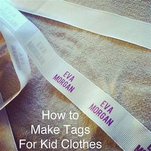 ever clever mom diy homemade tags for your kids clothing With clothing labels for daycare