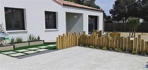 paysagiste entree de maison avie home With idee amenagement jardin devant maison 4 gilbert lebreton paysagiste rocheserviere 85 gilbert